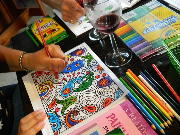 Wine & Coloring